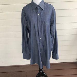 Peter MillarSlate Gray  Button Down Dress Shirt